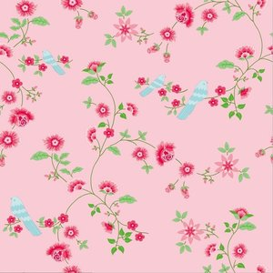 Room Seven Behang Bird Branches Pink Roze Luxury By