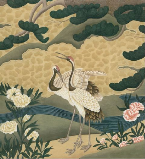 Iksel Japanese Cranes Behang Luxury By Nature