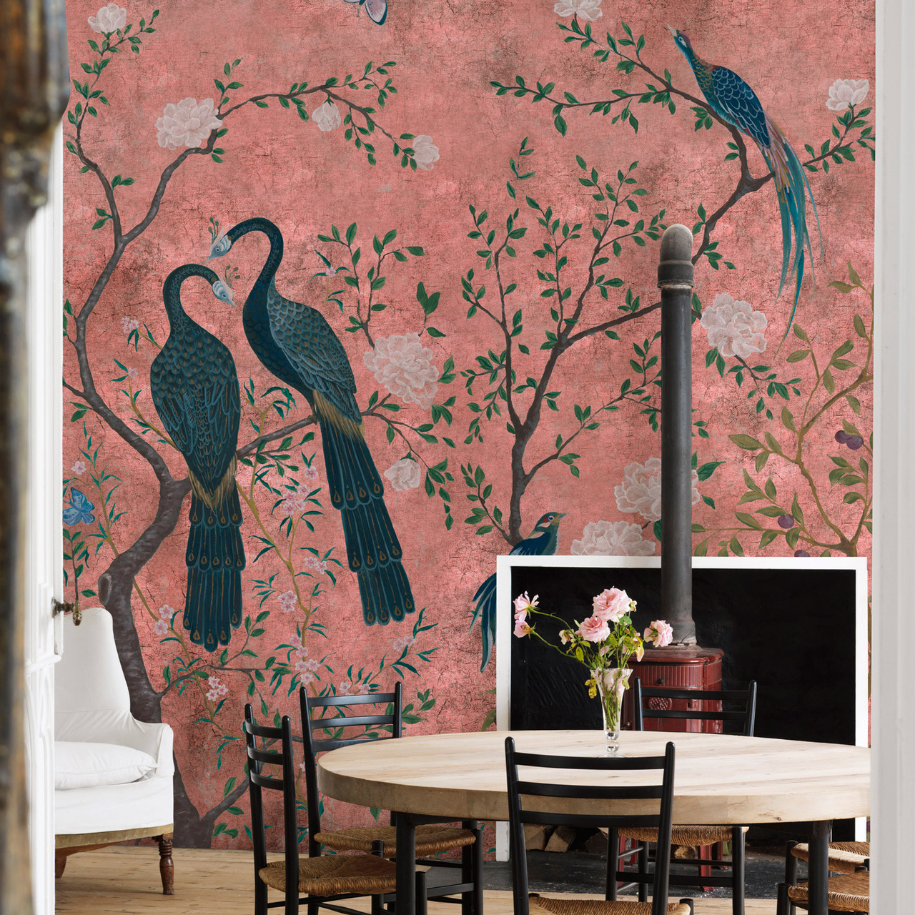 Coordonne Edo Dusty Pink Behang Vinyl Luxury By Nature