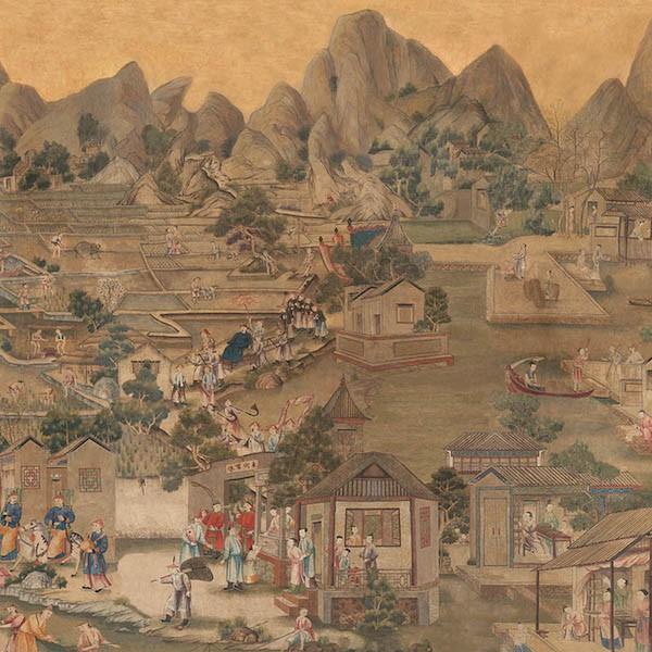 Chinese zaal behang paleis huis ten bosch