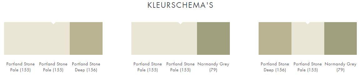 Little Greene Portland Stone Pale 155 kleurschema