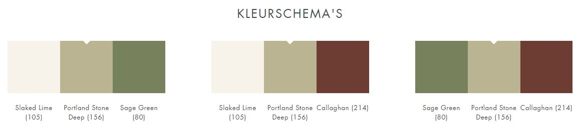 Little Greene Portland Stone Deep 156 kleurschema