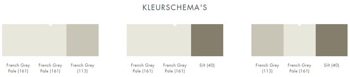 Little Greene French Grey Pale 161 kleurschema