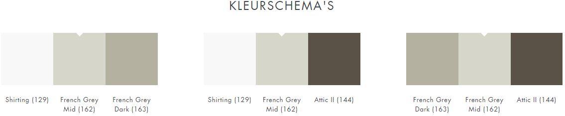 Little Greene French grey Mid 162 kleurschema