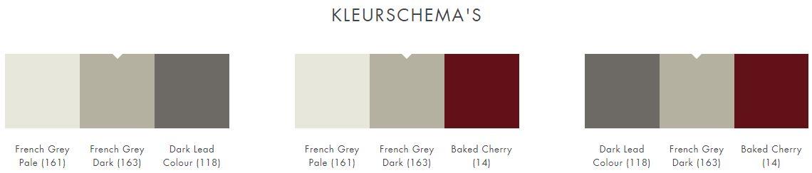 Little Greene French Grey Dark 163 kleurschema
