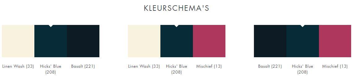 208 Hicks' Blue Little Greene kleurschema