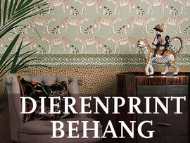 Dierenprint Behang