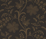 Little Greene Bedford Square Behang Ebony gold Wallpapers V