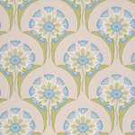 Little Greene Hencroft Behang National Trust Papers Blue Primula