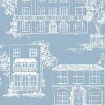 Behang Little Greene Hampstead james blue Luxury By Nature