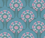 Little Greene Hencroft Behang National Trust Papers Azure