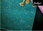 Francoise Paviot Servet Croco Bleu 40 x 40 cm