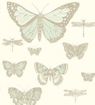behang cole and son butterflies and dragonflies whimsical 103 15065