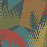 behang cole and son deco palm 105-8039 geometric ii luxury by nature