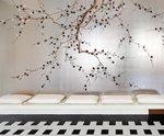 handbeschilderd behang de Gournay Japans en Koreaans Chinoiserie Plum Blossom behangpapier