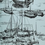 Behang Little Greene Zingara_-_cerulean_sea 20th Century Papers Luxury By Nature