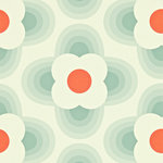 Harlequin, striped petal, orla kiely,110404,