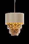 Lumière Glasschakel Hanglamp met glazen ringen goud H700 Luxury By Nature