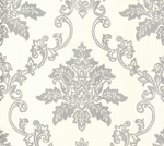 Hampton Behang 1838 Wallcoverings Rosemore Collection 1601-106-01 Silver