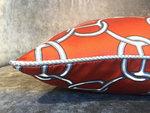Hermès Stof Sierkussen Oranje Fil d'Argent