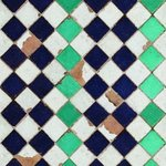 Tiles Turquioise chess behang luxury by nature