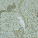 DVIWSQ103 sanderson Behang Vintage Squirrel & Dove 2