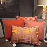 60 x 60 cm Hermès Stof Sierkussen Oranje - Fil d'Argent_