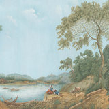IKSEL Pillement Landscape behang landschap behang historisch