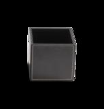 zwart leren multi-purpose box opbergdoosje luxe badkameraccessoires decor walther dealer luxury by nature amsterdam