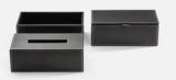 wit leren multi-purpose box opbergdoosje luxe badkameraccessoires decor walther dealer luxury by nature amsterdam