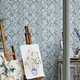 zoffany Jasmine Lattice behang sfeer 1