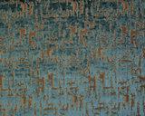Dutch Wall Textile Co. Caribou collectie  34 petrol groen jacquard geweven velours
