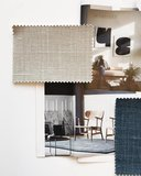 Belgisch linnen behang Dutch Wall Textile Co. sfeerimpressie