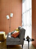 Jane Churchill Geometric Silk Behang Atmosphere IV Collectie