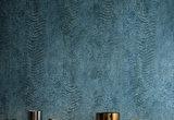 Casamance Nickel Behang Copper Behang Collectie