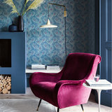Little Greene Carlton House Terrace Behang Blue Plume