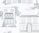 Behang Little Greene Hampstead Glass 20th Century Papers Collectie Luxury By Nature