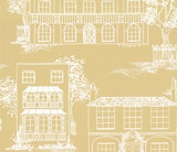 Behang Little Greene Hampstead Yellow Apple 20th Century Papers Collectie Luxury By Nature