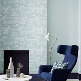 Behang Little Greene Hampstead Penumbra 20th Century Papers Collectie Luxury By Nature sfeer