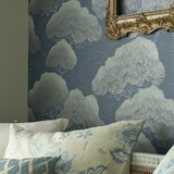Behang Little Greene Pines - Blue Pines 20th Century Papers Luxury By Nature sfeer 1
