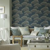 Behang Little Greene Pines - Blue Pines 20th Century Papers Luxury By Nature sfeer 2