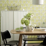 Behang Little Greene Florette Acid green 20th Century Papers Collectie Luxury By Nature sfeer