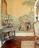 Early views of india De Gournay panorama behang 1