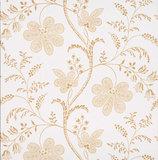 Little Greene behang, London Wallpapers 2, Bedford Square, wit, oker, geel, bloem, streep, 0273BELACE,
