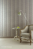 Little Greene behang, London Wallpapers 2, lauderdale, blauw, wit, 0273LAVILLA, luxury by nature