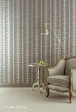 Little Greene behang, London Wallpapers 2, lauderdale, grijs, wit, 0273LACHATE, luxury by nature