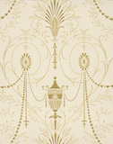 Little Greene behang, London Wallpapers 2, Marlborough, goud, wit, 0273MAJEWEL,