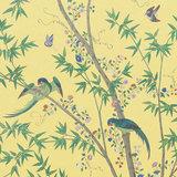 Little Greene Belton Scenic behang Sunbeam little greene behang detail