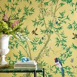 Little Greene Belton Scenic behang Sunbeam little greene behang detail 2