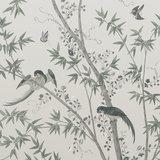 Little Greene Belton Scenic behang Oyster little greene behang detail
